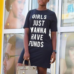 Dresses & Skirts - Girls Just Want To Have Funds Dress